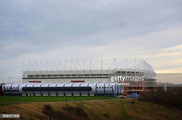A general view of the stadium prior to the Barclays Premier League match between Sunderland and AFC Bournemouth at the Stadium of Light on January 23...