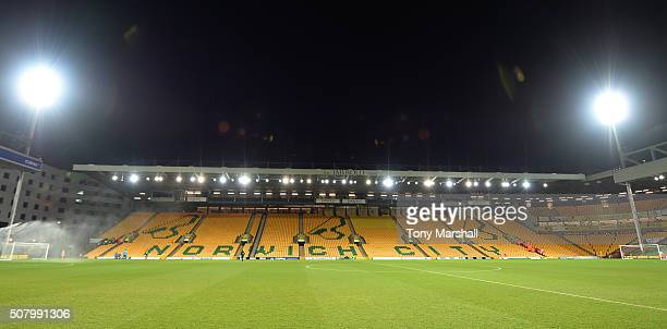 A general view of the stadium prior to the Barclays Premier League match between Norwich City and Tottenham Hotspur at Carrow Road on February 2 2016...
