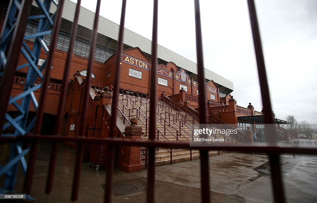 A general view of the stadium prior to the Barclays Premier League match between Aston Villa and Norwich City at Villa Park on February 6, 2016 in Birmingham, England.