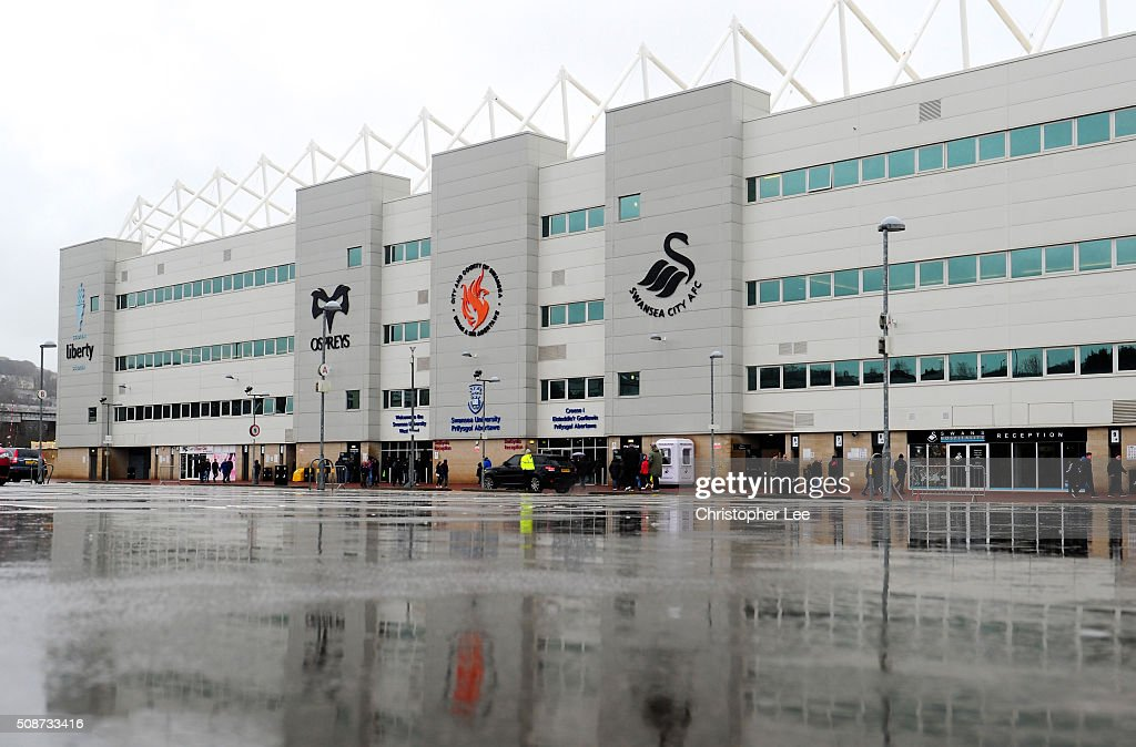 A general view of the stadium prior to the Barclays Premier League match between Swansea City and Crystal Palace at the Libery Stadium on February 6, 2016 in Swansea, Wales.