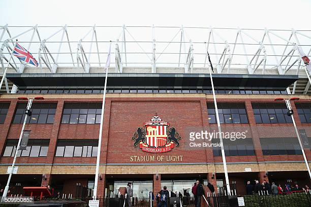 A general view of the stadium prior to the Barclays Premier League match between Sunderland and Manchester United at the Stadium of Light on February...