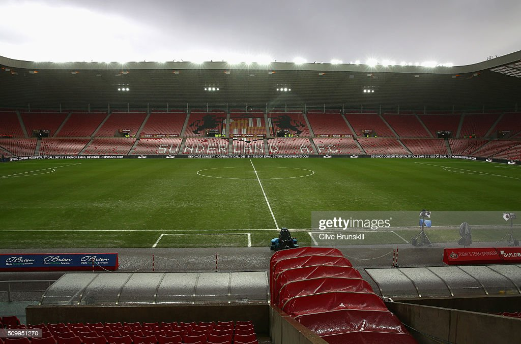 A general view of the stadium prior to the Barclays Premier League match between Sunderland and Manchester United at the Stadium of Light on February 13, 2016 in Sunderland, England.