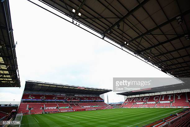 A general view of the stadium prior to the Barclays Premier League match between Stoke City and Aston Villa at Britannia Stadium on February 27 2016...