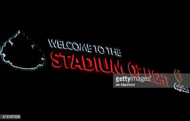 A general view of the stadium prior to the Barclays Premier League match between Sunderland and Crystal Palace at Stadium of Light on March 1 2016 in...