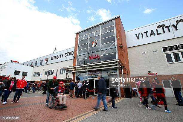 A general view of the stadium prior to the Barclays Premier League match between AFC Bournemouth and Chelsea at the Vitality Stadium on April 23 2016...