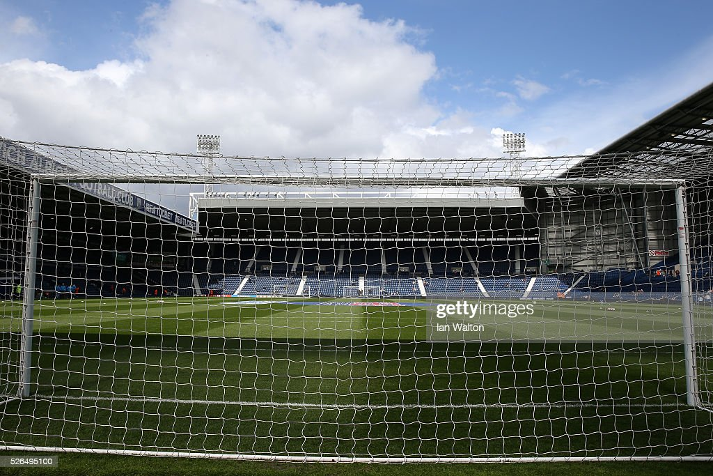A general view of the stadium prior to the Barclays Premier League match between West Bromwich Albion and West Ham United at The Hawthorns on April 30, 2016 in West Bromwich, England.