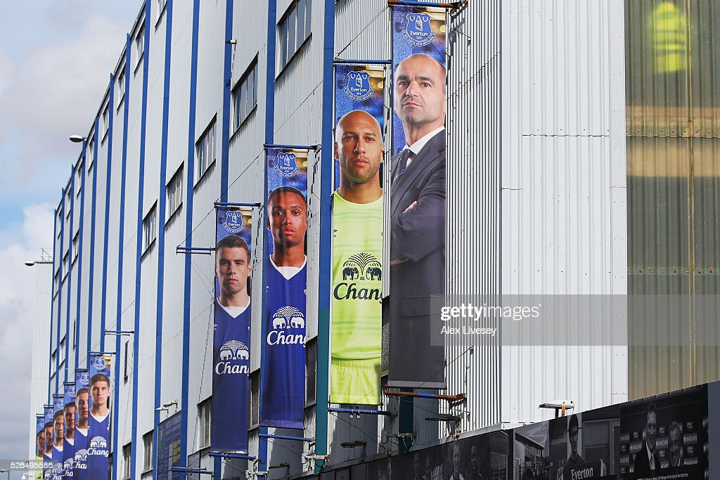 A general view of the stadium prior to the Barclays Premier League match between Everton and A.F.C. Bournemouth at Goodison Park on April 30, 2016 in Liverpool, England.