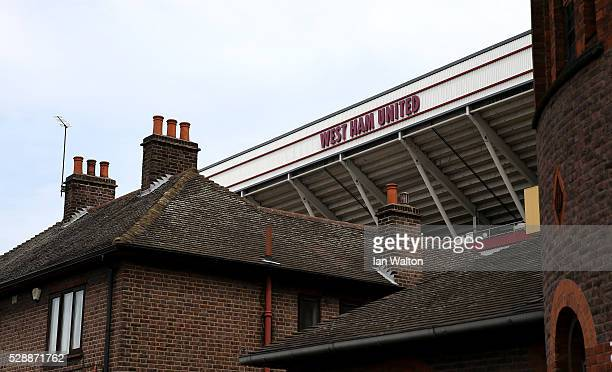 A general view of the stadium prior to the Barclays Premier League match between West Ham United and Swansea City at the Boleyn Ground May 7 London...