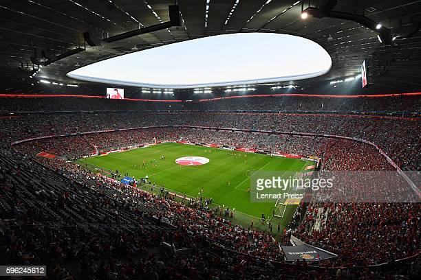 General view of the stadium prior to the Bundesliga match between Bayern Muenchen and Werder Bremen at Allianz Arena on August 26 2016 in Munich...