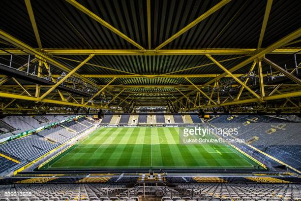 General view of the stadium prior to the Bundesliga match between Borussia Dortmund and Hertha BSC at Signal Iduna Park on August 26 2017 in Dortmund...