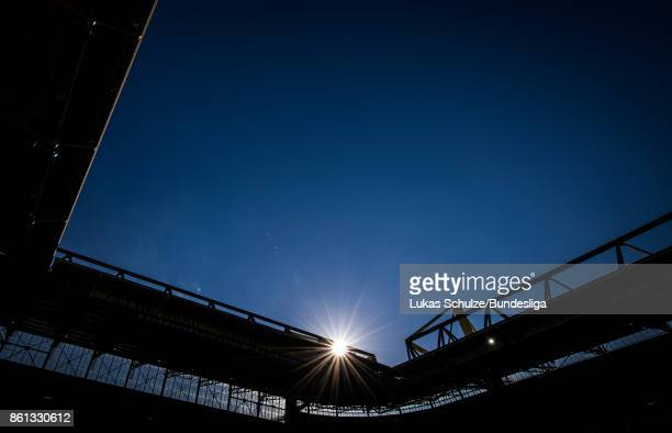 General view of the stadium prior to the Bundesliga match between Borussia Dortmund and RB Leipzig at Signal Iduna Park on October 14 2017 in...