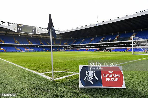 A general view of the stadium prior to the Emirates FA Cup Fourth Round match between Tottenham Hotspur and Wycombe Wanderers at White Hart Lane on...