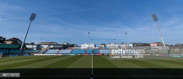 General view of the stadium prior to the FIFA 2018 World Cup Qualifier between Luxembourg and France at Stade Josy Barthel on March 25 2017 in...