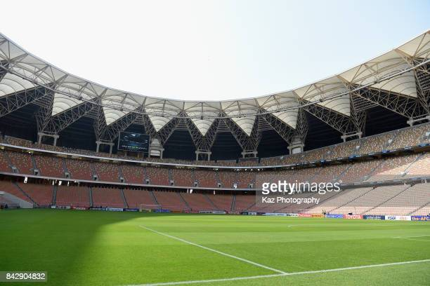 A general view of the stadium prior to the FIFA World Cup qualifier match between Saudi Arabia and Japan at the King Abdullah Sports City on...