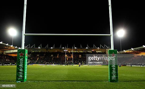 General view of the stadium prior to the Heineken Cup match between Northampton Saints and Leinster Rugby at Franklin's Gardens on December 7 2013 in...
