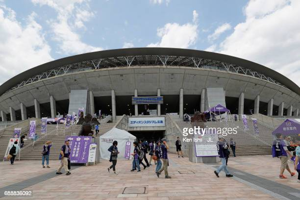 A general view of the stadium prior to the JLeague J1 match between Sanfrecce Hiroshima and Jubilo Iwata at Edion Stadium Hiroshima on May 27 2017 in...