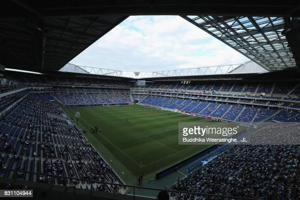 A general view of the stadium prior to the JLeague J1 match between Gamba Osaka and Jubilo Iwata at Suita City Football Stadium on August 13 2017 in...