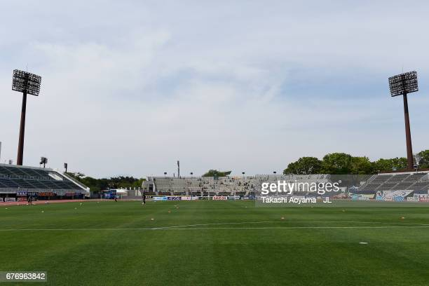 A general view of the stadium prior to the JLeague J2 match between Thespa Kusatsu Gunma and FC Gifu at Shoda Shoyu Stadium on May 3 2017 in Maebashi...