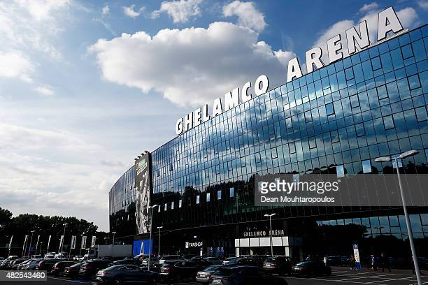 A general view of the stadium prior to the Jupiler League match between KAA Gent and KRC Genk held at the Ghelamco Arena on July 31 2015 in Gent...