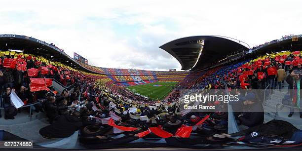 A general view of the stadium prior to the La Liga match between FC Barcelona and Real Madrid CF at Camp Nou on December 3 2016 in Barcelona Spain