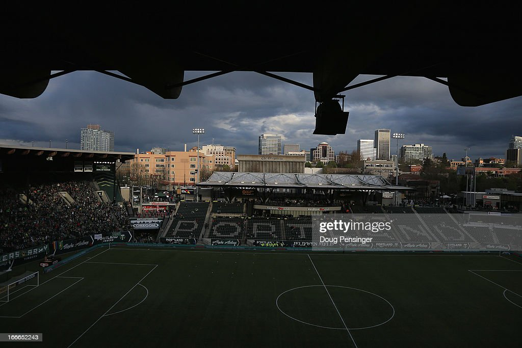 A general view of the stadium prior to the match between the San Jose Earthquakes and the Portland Timbers at JELD-WEN Field on April 14, 2013 in Portland, Oregon. The Timbers defeated the Earthquakes 1-0.