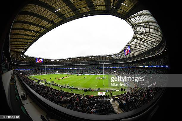 A general view of the stadium prior to the Old Mutual Wealth Series match between England and South Africa at Twickenham Stadium on November 12 2016...