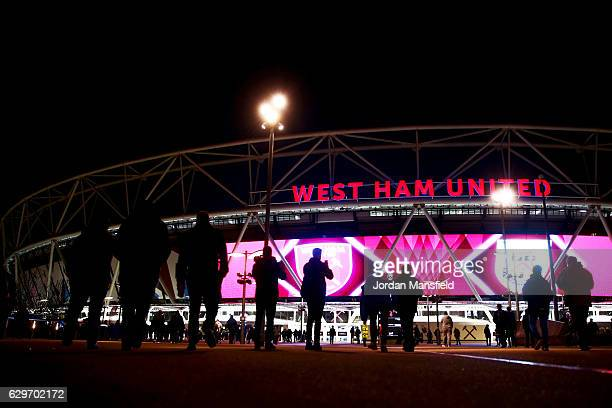 A general view of the stadium prior to the Premier League match between West Ham United and Burnley at London Stadium on December 14 2016 in...