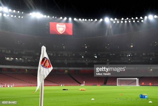 A general view of the stadium prior to the Premier League match between Arsenal and Watford at Emirates Stadium on January 31 2017 in London England