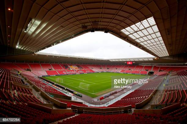 A general view of the stadium prior to the Premier League match between Sunderland and Southampton at Stadium of Light on February 11 2017 in...