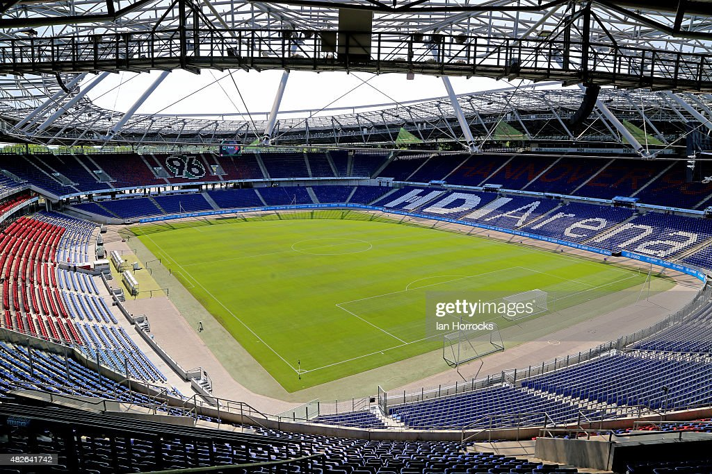 A general view of the stadium prior to the PreSeason friendly match between Hannover 96 and Sunderland AFC at the HDI Arena on August 01 2015 in...
