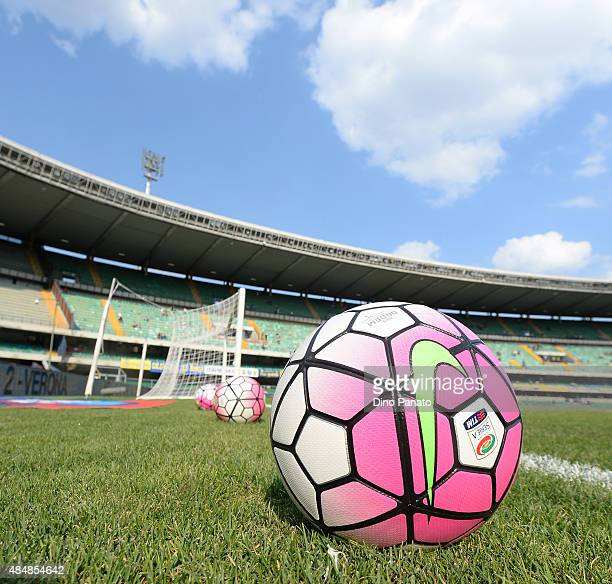 General View of the stadium prior to the Serie A match between Hellas Verona FC and AS Roma at Stadio Marc'Antonio Bentegodi on August 22 2015 in...