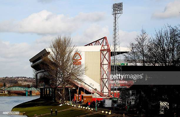 General view of the stadium prior to the Sky Bet Championship match between Nottingham Forest and Yeovil Town at City Ground on February 02 2014 in...