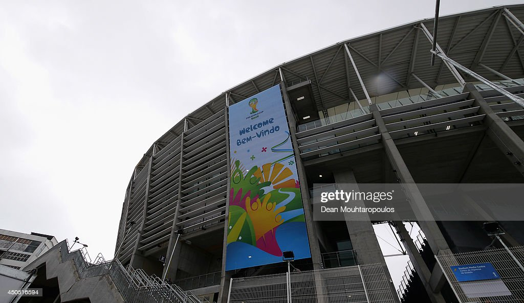 A general view of the stadium prior to the Spain training session ahead of the 2014 FIFA World Cup Group B match between Spain and the Netherlands held at the Arena Fonte Nova on June 12, 2014 in Salvador, Brazil.