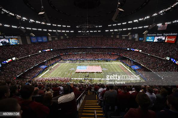 A general view of the stadium prior to the start of the game during the All State Sugar Bowl at the MercedesBenz Superdome on January 1 2015 in New...