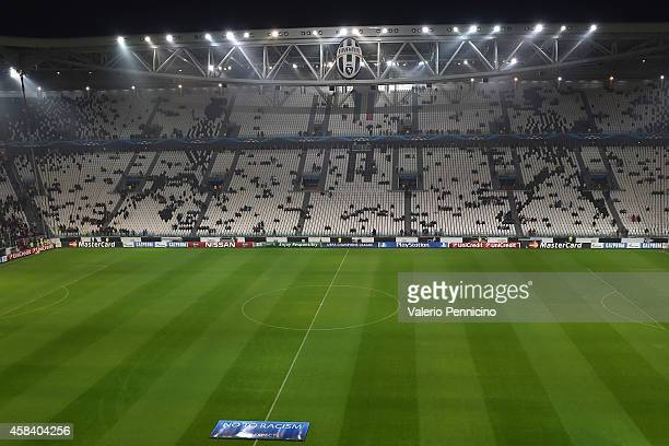 A general view of the stadium prior to the the UEFA Champions League group A match between Juventus and Olympiacos FC at Juventus Arena on November 4...