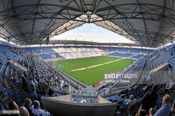 A general view of the stadium prior to the Third League match between MSV Duisburg and Arminia Bielefeld at SchauinslandReisenArena on August 27 2014...