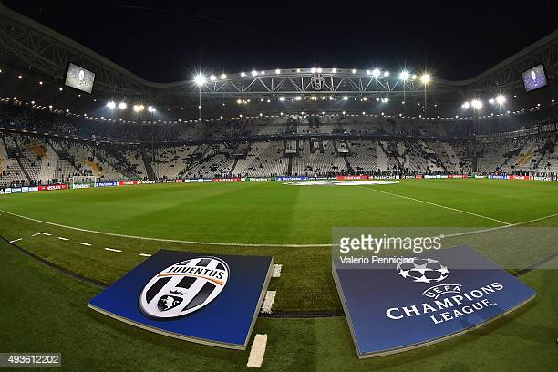 A general view of the stadium prior to the UEFA Champions League group stage match between Juventus and VfL Borussia Moenchengladbach at Juventus...