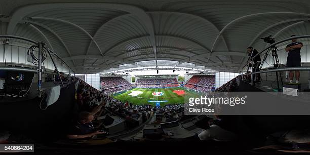 A general view of the stadium prior to the UEFA EURO 2016 Group B match between England and Wales at Stade BollaertDelelis on June 16 2016 in Lens...