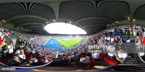 A general view of the stadium prior to the UEFA EURO 2016 Group C match between Northern Ireland and Germany at Parc des Princes on June 21 2016 in...