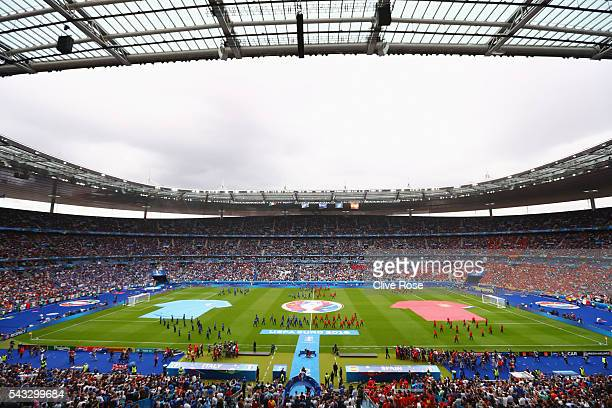 A general view of the stadium prior to the UEFA EURO 2016 round of 16 match between Italy and Spain at Stade de France on June 27 2016 in Paris France