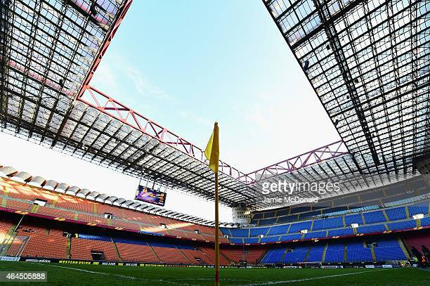 A general view of the stadium prior to the UEFA Europa League Round of 32 match between FC Internazionale Milano and Celtic FC at Stadio Giuseppe...