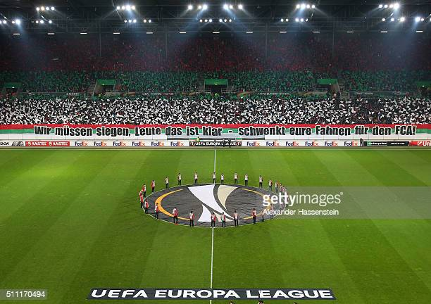 A general view of the stadium prior to the UEFA Europa League round of 32 first leg match between FC Augsburg and Liverpool at WWKArena on February...