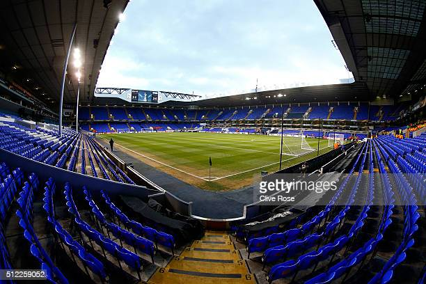 A general view of the stadium prior to the UEFA Europa League round of 32 second leg match between Tottenham Hotspur and Fiorentina at White Hart...