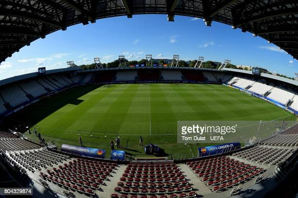 A general view of the stadium prior to the UEFA European Under21 Championship Final match between Germany and Spain on June 30 2017 in Krakow Poland