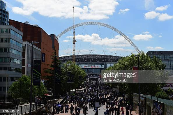 A general view of the stadium prior to the Vanarama Conference Playoff Final match between Grimsby Town and Bristol Rover at Wembley Stadium on May...