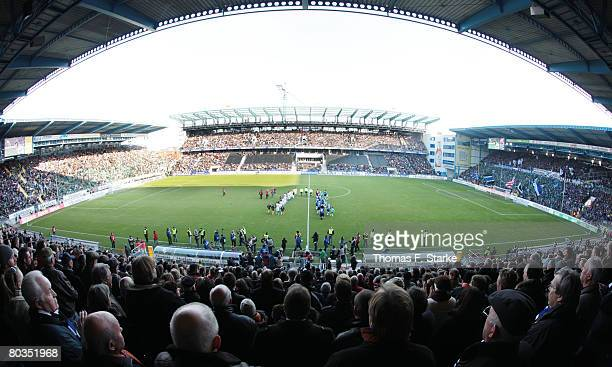 A general view of the stadium Schueco Arena during the Bundesliga match between Arminia Bielefeld and Werder Bremen at the Schueco Arena on March 23...