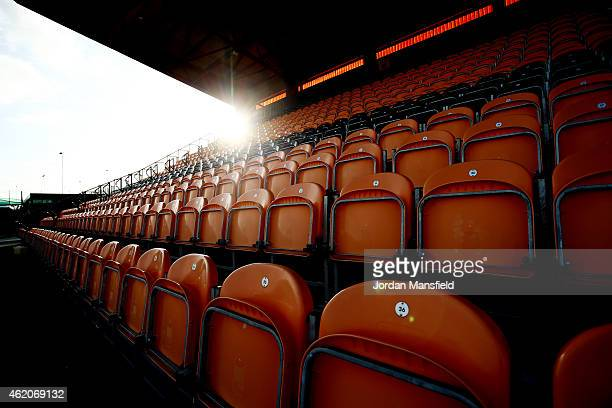 A general view of the stadium seating ahead of the Vanarama Football Conference League match between Barnet and Southport at The Hive on January 24...