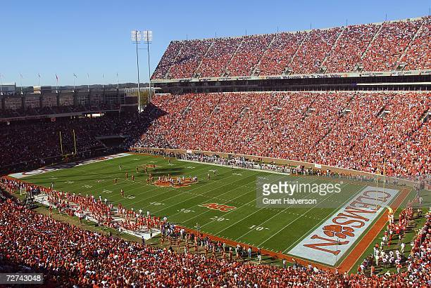 A general view of the stadium taken during the game between the Clemson Tigers and the South Carolina Gamecocks at Memorial Stadium on November 25...