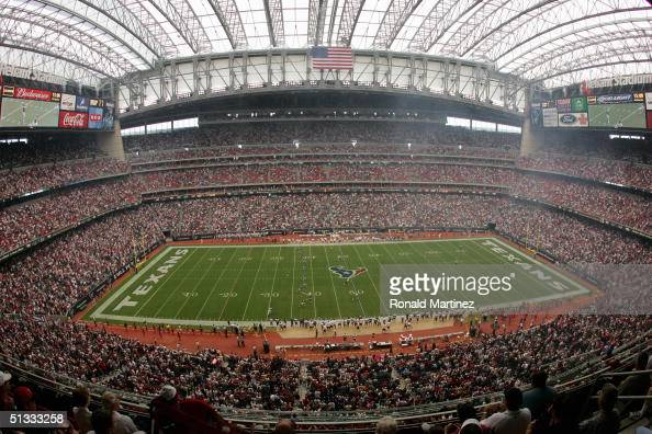 A general view of the stadium taken during the game between the Houston Texans and the San Diego Chargers on September 12 2004 at Reliant Stadium in...