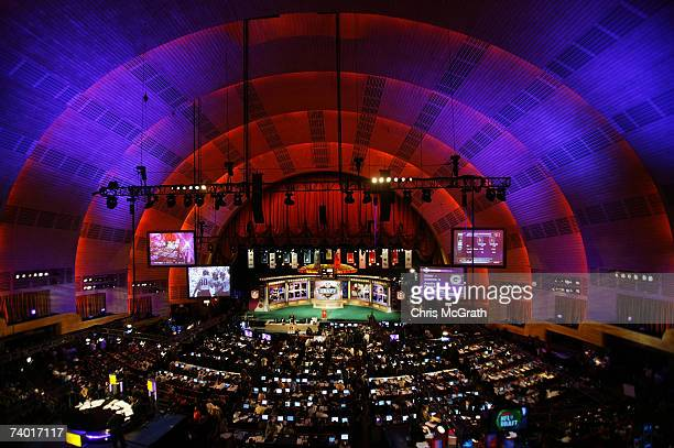A general view of the stage during the 2007 NFL Draft on April 28 2007 at Radio City Music Hall in New York New York